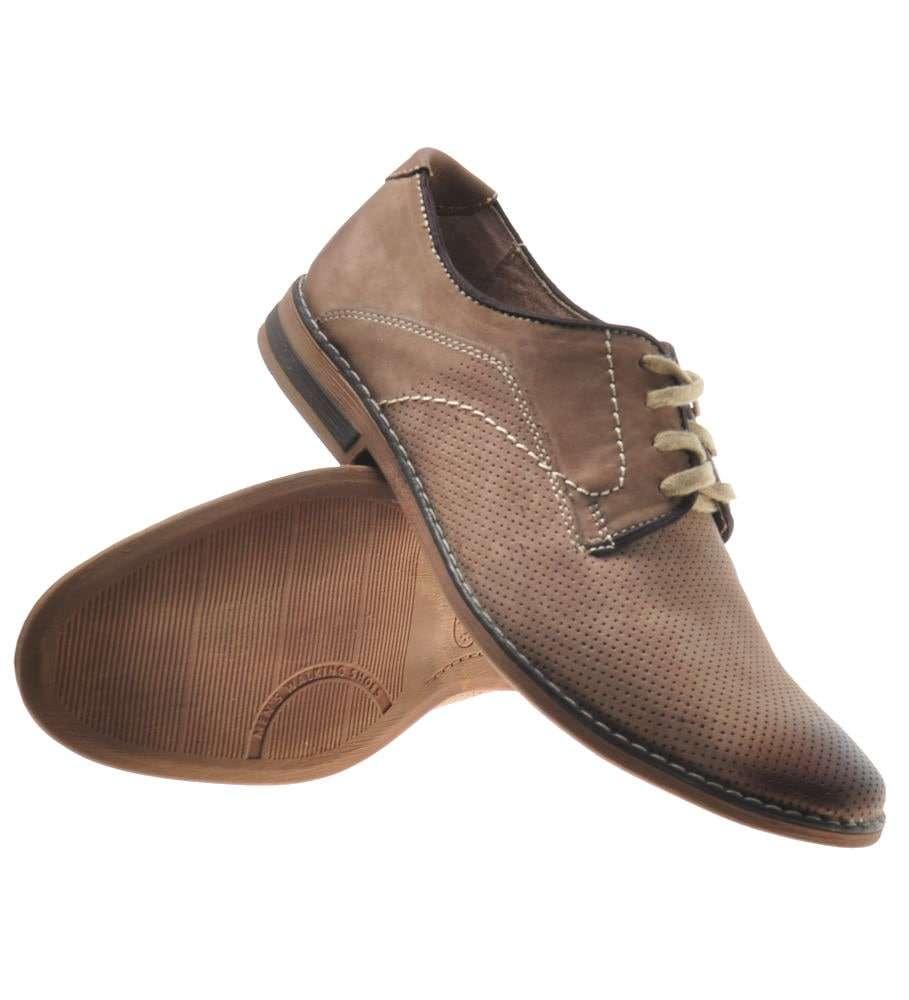 Idealne buty męskie skórzane na targi np. książki